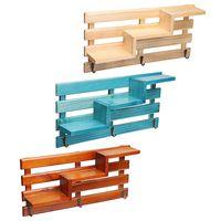 New 3 Colors Bedroom Wall Shelves Original Wood Chic Rack Storage Organization Home Decor Retro Style Storage Holders Handmade