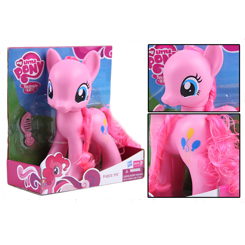 22cm My Little Pony Toys Rarity Apple Jack Rainbow Dash Princess Celestia Action Figure Collection Model Doll For Kids Gifts