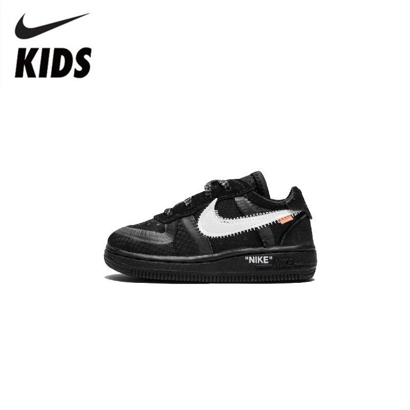 Nike Air Force 1 (TD) Original New Arrival Kids Mesh Running Shoes Breathable Sports Outdoor Sneakers #BV0853-001