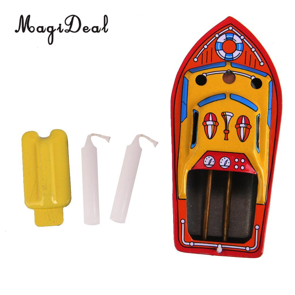 Barco de ferro clássico à vapor, vela, brinquedo de estanho, piscina de água, brinquedo flutuante pop, barco para crianças, 1 peça presente de aniversário