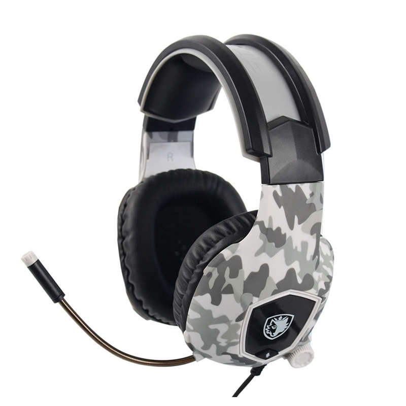 Sades Sa818 Casque Ps4 Gaming Headset With Microphone Camouflage Stereo Headphones For Pc Cell Phone New Xbox One Laptop
