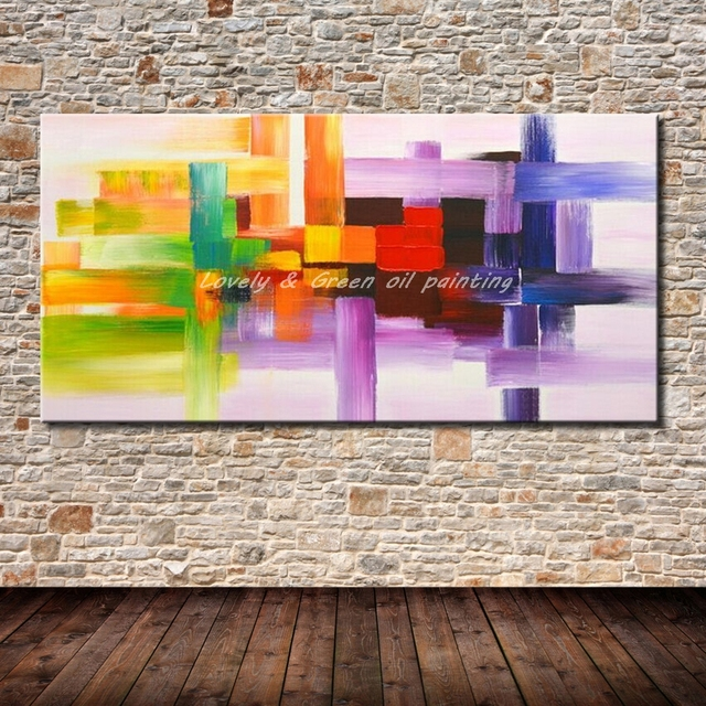Handpainted Poster Wall Art Canvas Oil Painting Modern Abstract Paintings Wall Pictures For Living Room Wall Decor Unframed Gift
