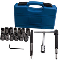 17pcs Diesel Injector Seats Cutter Cleaner Set For BMW Mercedes for Ford VW Audi + Case