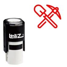LolliZ Pickaxe Лопата самовсасывающая резиновая штамп-Современная серия Symbol