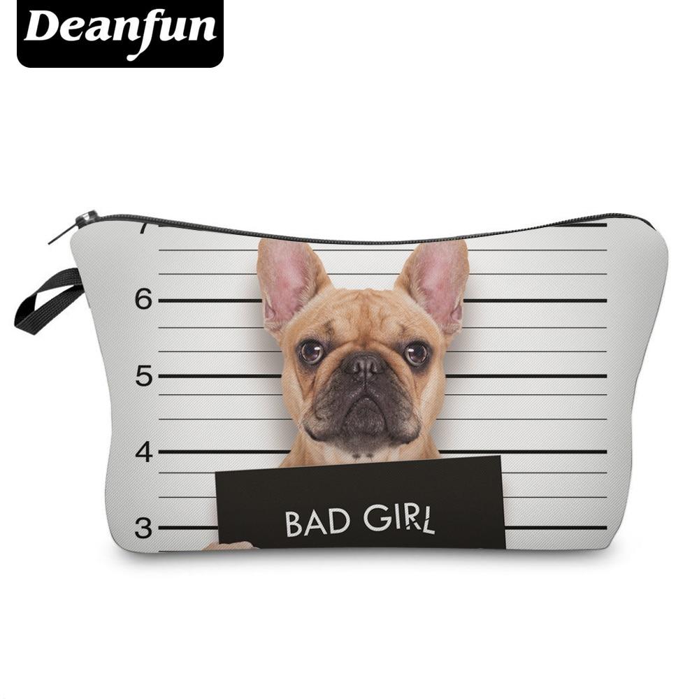 Deanfun 3D Printed Cosmetic Bags Cute Pug Women Makeup Organizer Necessaries For Travelling  50903