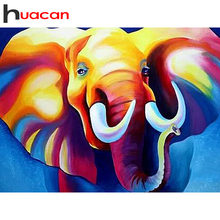 Huacan Diamond Bordir Hewan Penuh Bor Square Gajah Diamond Lukisan Cross Stitch Mosaik Diamond Dekorasi Rumah Hadiah(China)