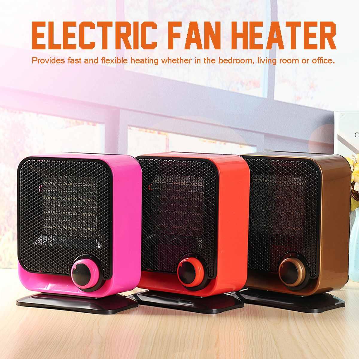 1500 W 220 V Mini ventilateur électrique chauffage Air chaud hiver plus chaud ventilateur thermostatique cadeaux de noël 2 réglage de la chaleur or rose Orange