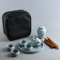 Portable Porcelain Tea Sets China Kung Fu Teaware Set Outdoor Travel Ceramic Tea Pot Cups Tray Caddy Great Gift for Friends