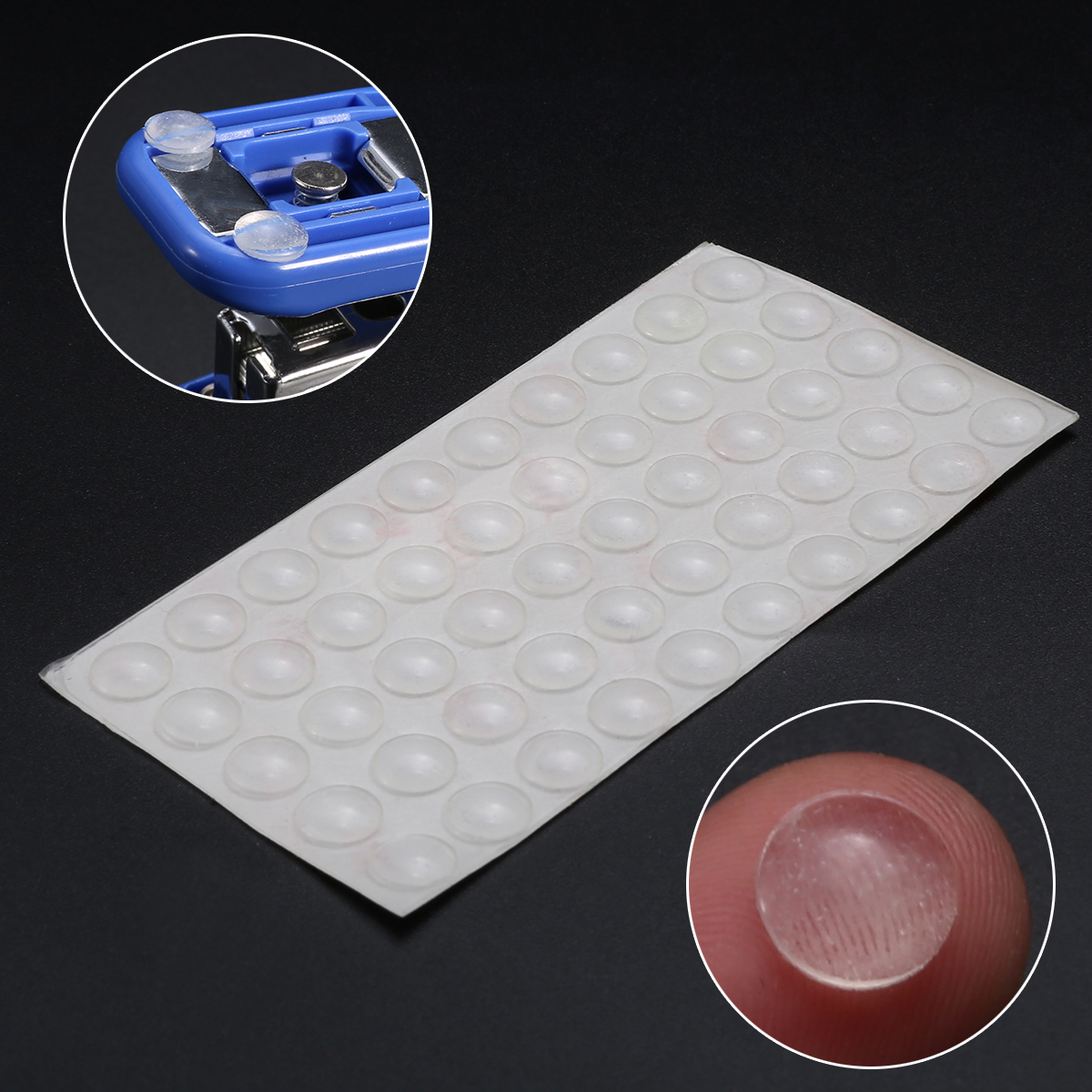 50Pcs  Self Adhesive Rubber Feet Pad Silicone Transparent Bumpers Door Buffer Pad Damper Feet Pads For Door Furniture