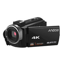 Andoer Portable 4K HD Digital Video Camera Camcorder DV 16X Digital Zoom WiFi Connection IR Night Vision with 2pcs Batteries(China)