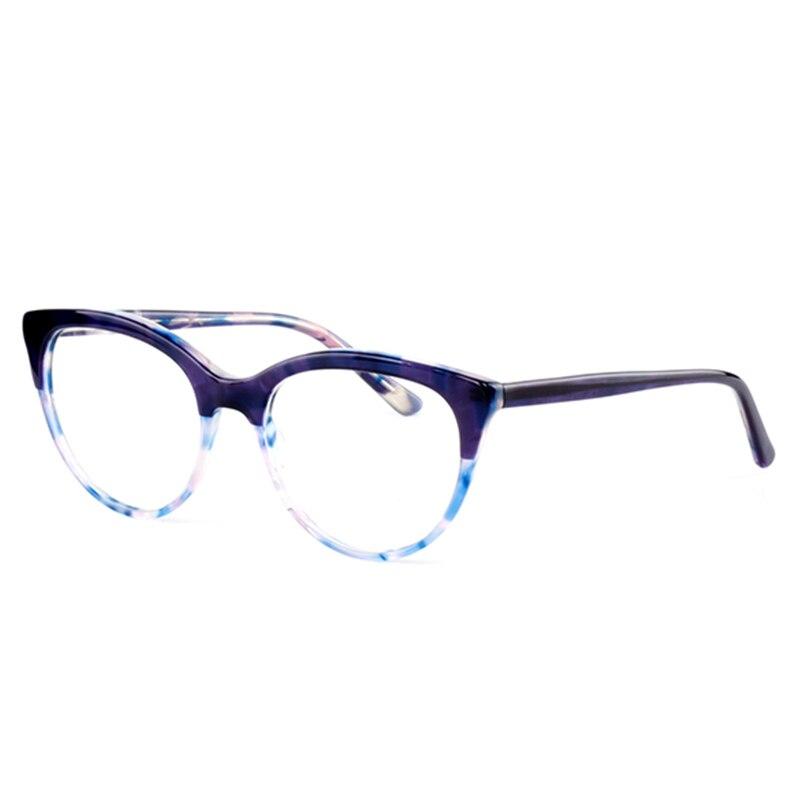 Acetat Optische Gläser Rahmen Frauen Cat Eye Rahmen 2019 Neue Mode Druck Farbe Myopie Computer Gläser Rahmen Brillen Eine GroßE Auswahl An Farben Und Designs