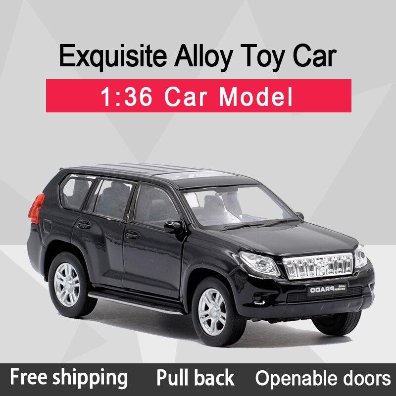 f186a7922736 WELLY 1:36 Toyota Land Cruiser Prado внедорожник сплав литья под давлением Модель  автомобиля игрушки