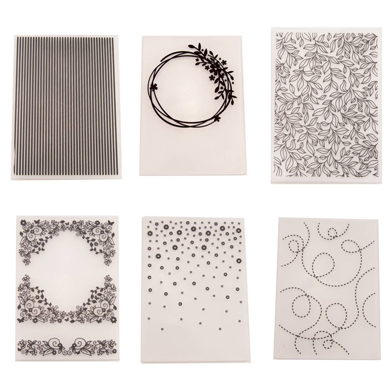 1 Pcs Embossing Folders DIY Making Paper Cards Craft Card Stencil Scrapbook Template Plastic Transparent Stamps Wedding Decor