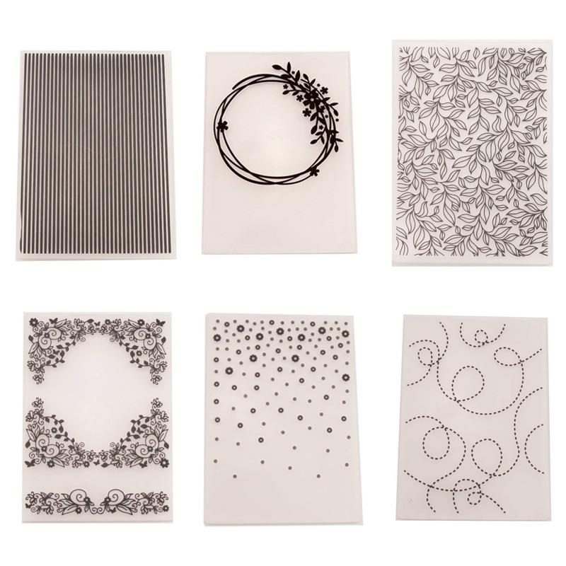 1 Pcs Embossing Folders DIY Making Paper Cards Craft Card Stencil Scrapbook Template Plastic Transparent Stamps Wedding Decor