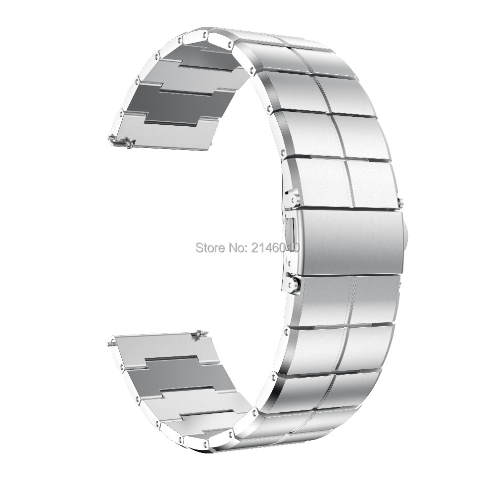 22MM Stainless Steel Strap for Samsung Gear S3 S3 Frontier Classic Metal Wristband for Samsung Galaxy 46mm Watch Band in Watchbands from Watches