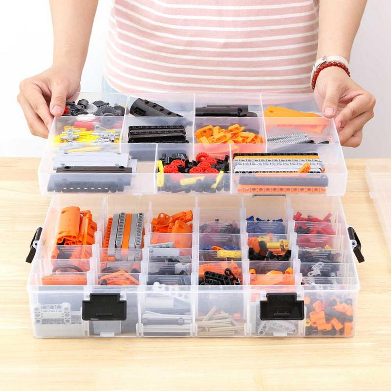 Portable Plastic Storage Box Detachable Partition Classification Storage Box For Toy Accessories Storage Finishing