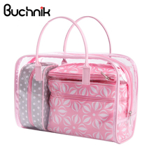 e3a45cd84946e Buy pink flower bag transparent and get free shipping on AliExpress.com