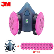 11in1 3M 7502 Half Face Mask With 2091 Industry Painting Spray Work Respirator Anti-Dust Fliters