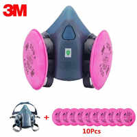 11in1 3M 7502 Half Face Mask With 2091 Industry Painting Spray Work Mask Respirator Anti-Dust Respirator Fliters
