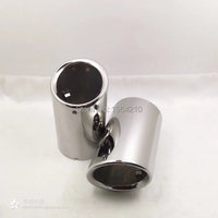 MONTFORD For Audi Q3 Stainless Steel Tail Exhaust Muffler Tip End Pipes Silencer Pipe Car Styling