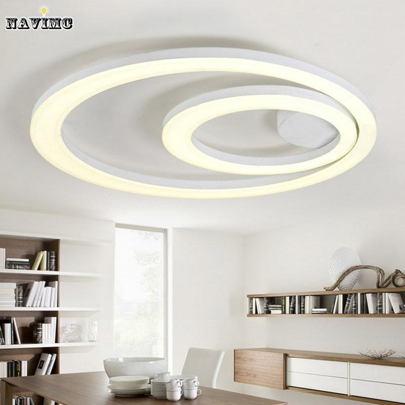 Us 159 2 20 Off Flush Mounted Led Chandelier Light New Design White Lighting Modern Acrylic Ring Fixture For Ceiling Lamp In