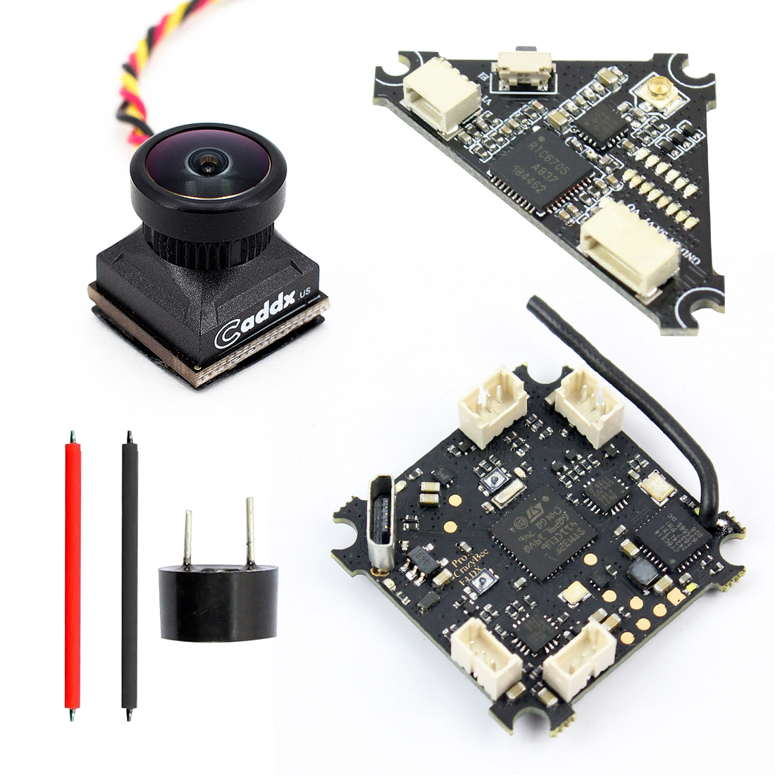 Welding Combo for Mobula7 Upgrade Crazybee F4 Pro Flight Controller +  1200TVL FPV Camera & Switchable VTX + New Canopy V2