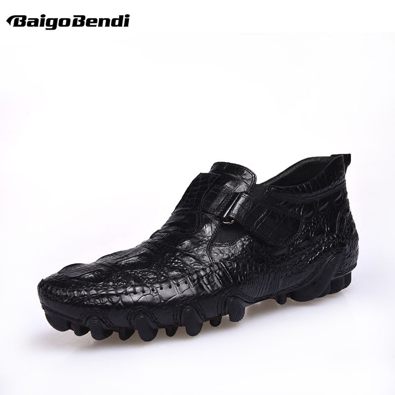 Super Recommand !Alligator Pattern Full Grain Leather Men Casual Shoes Hight End Business Man Hook Loop Octopus LoafersSuper Recommand !Alligator Pattern Full Grain Leather Men Casual Shoes Hight End Business Man Hook Loop Octopus Loafers