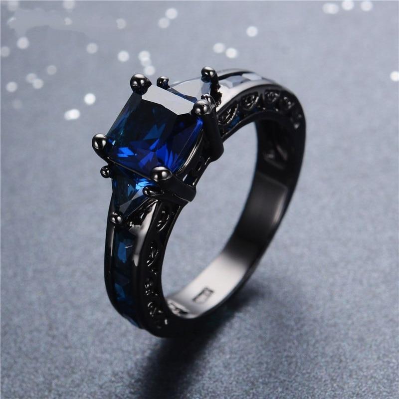 14 K Multi-ton Sapphire Diamant Ring Anillos De Amethyst Bizuteria Bague Etoile Obsidian Diamante Ring Hip-hop Rock Für Männer 2019 Ruf Zuerst