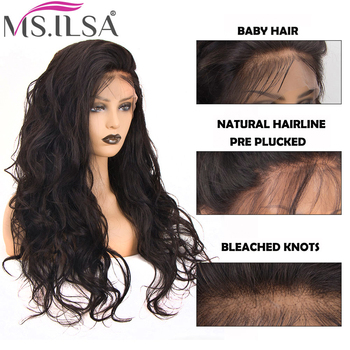 13×6 Body Wave Lace Front Wigs 150 Density Human Hair Wigs For Black Women Pre Plucked Remy Hair Lace Wigs Full End MS.ILSA
