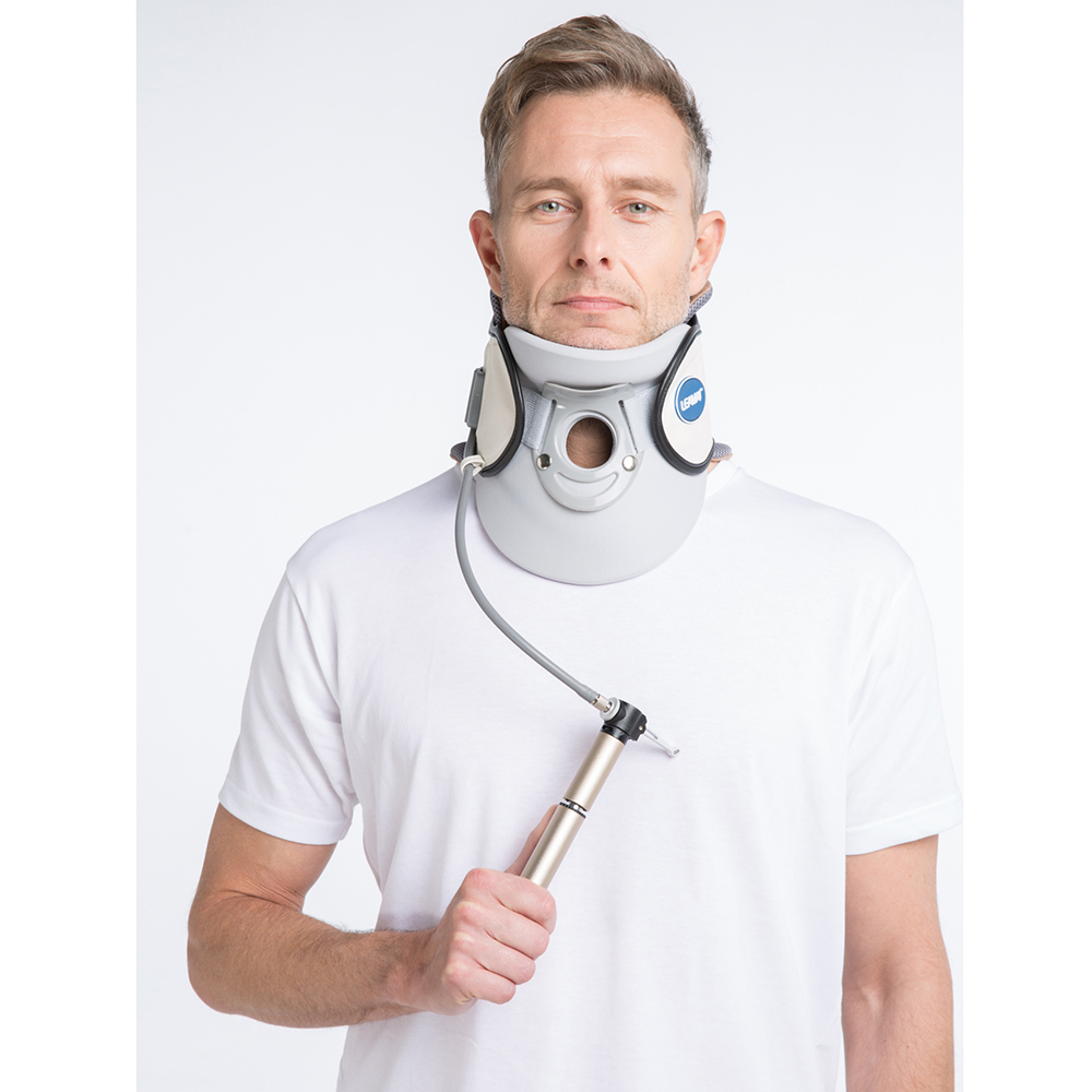 LEAMAI Inflatable Medical Cervical Traction Device Relief Neck and Upper Back Pain Portable Home Use Cervical Vertebra Tractor
