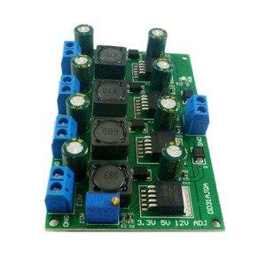 Image 3 - 3A 4 채널 다중 스위칭 전원 공급 장치 모듈 3.3V 5V 12V ADJ 가변 출력 DC DC 스텝 다운 벅 컨버터 보드