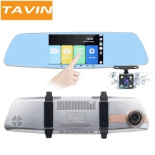 Car dvr FrontRearview Camera HD 1080P Dash Cam Touch Dual Lens 5 Inch Mirror Recorder Driver Camcorder Auto Registrator