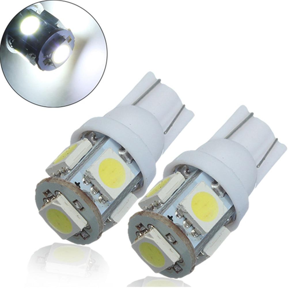 10* T10 Wedge High Power 2W LED Light Bulbs Xenon White W5W 192 168 194 12V Hot
