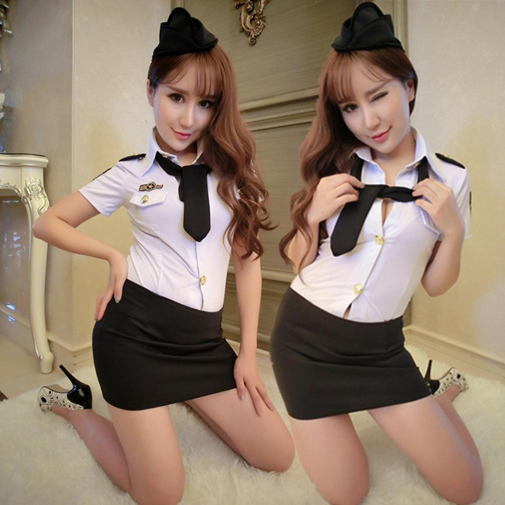 Sexy Lingerie Costume Women Sexy Police Officer Uniform Cosplay Erotic Apparel