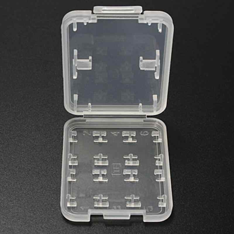8 in 1 Hard Plastic Memory Card Storage Case for SD HC TF Card Micro  Store Box Protector