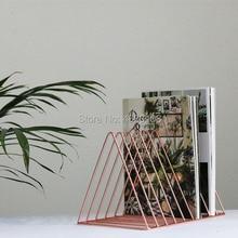 Настольная треугольная железная художественная коробка для компакт-дисков, записывающая полка, CD Дисковая полка, специальная LP черная резиновая полка для графофона