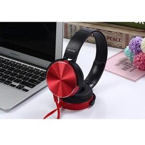 Image 4 - Écouteurs Extra basses 3.5mm AUX casque de jeu pliable Portable réglable écouteur pour ordinateur PC téléphones Auriculares
