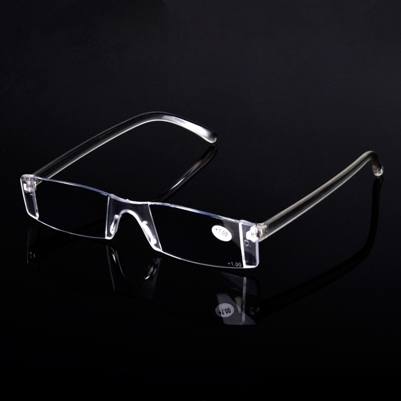 Zilead Rimless Clear Reading Glasses Women& Men Portable Magnifying Presbyopic Glasses Eyewear For Elder Parent Gifts