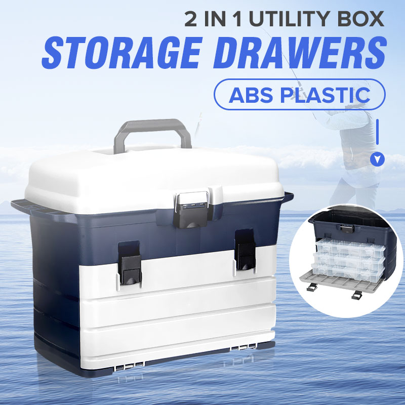 Waterproof Multi Layer Fishing Tackle Box Fly Fishing Storage Case Portable Fishing Gear Storage Box Strong Corrosion ResistantWaterproof Multi Layer Fishing Tackle Box Fly Fishing Storage Case Portable Fishing Gear Storage Box Strong Corrosion Resistant