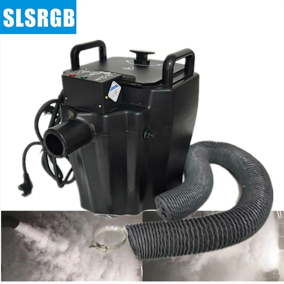 Frete grátis 3500 w máquina de gelo seco/terra fog machine/baixa máquina de fumaça Para O Evento Festa de Casamento À Noite clube