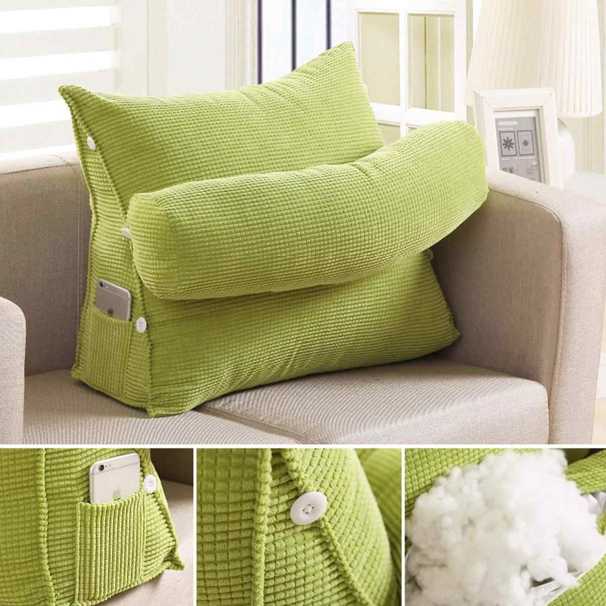 Reading Pillow Bed Triangle Sofa Cushion Back Pillow Bed Backrest Office Chair Pillow Support Waist Cushion Lounger Tv Reading Lumbar Home Decor
