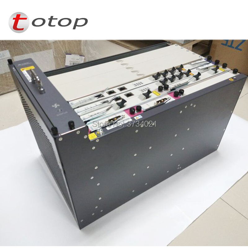Huawei MA5683T 19 Inches GPON OLT Equipment 10GE Uplink With 2*SCUN+2*X2CS+2*PRTE GPON Board MA5683T Optical Line Terminal
