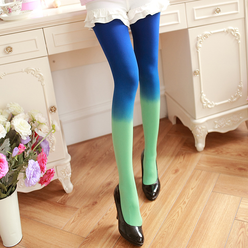 Plus Gradient Velvet Pantyhose 120D  Women's Candy Color Tights Spring / Autumn / Winter Woman Quality Tights