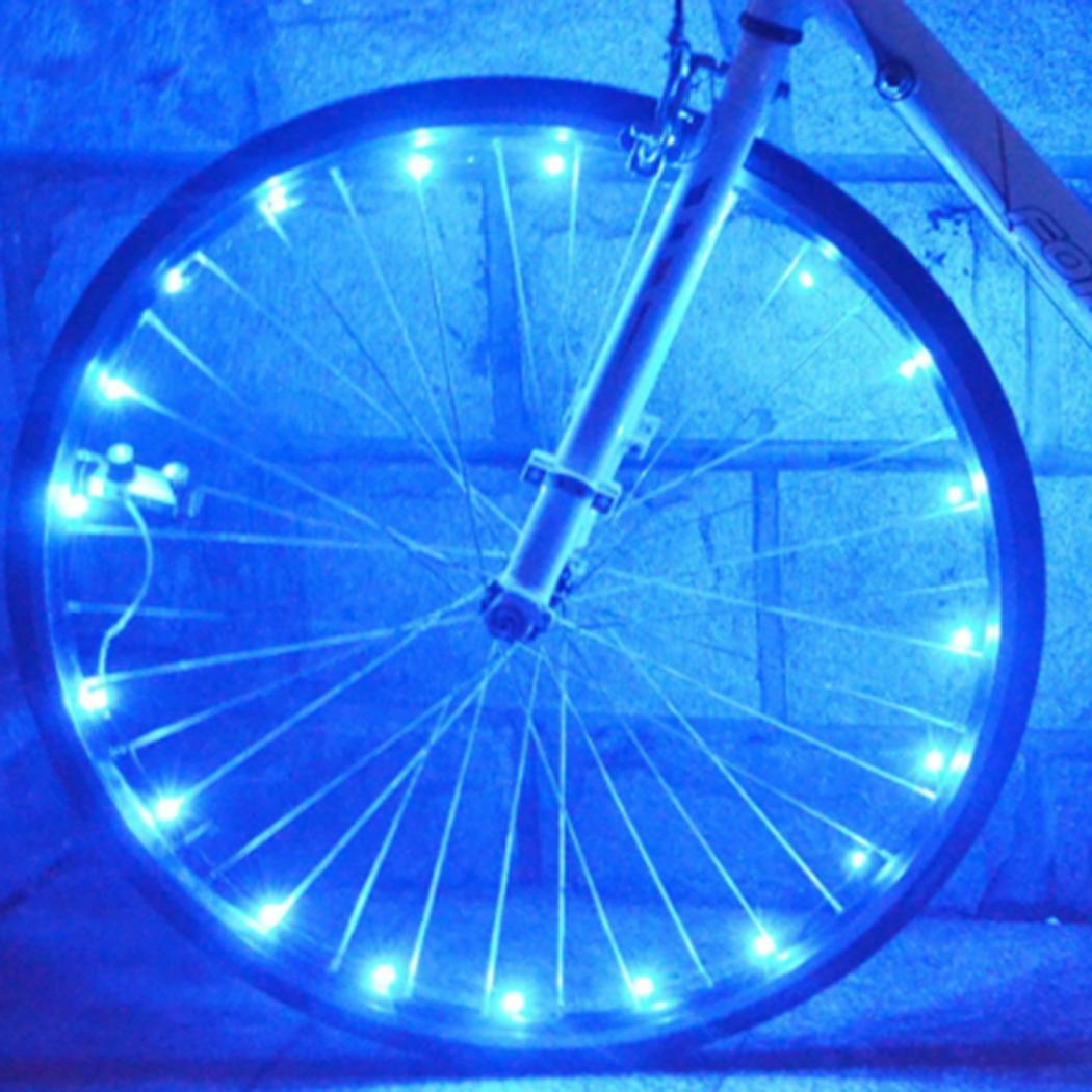 Bicycle 1 Included Bike Wheel Tire AA x Light Tyre Spoke Not LED Accessories 18g String Bike Light Battery Geometric