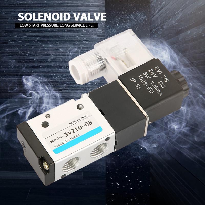 Aus Dem Ausland Importiert 2 Position 3 Way Ventil Pneumatische Magnet Elektromagnetische Ventil 3 Watt Dc24v 1/4 Schiebe Spalte Struktur Elektromagnetische Ventil Sanitär
