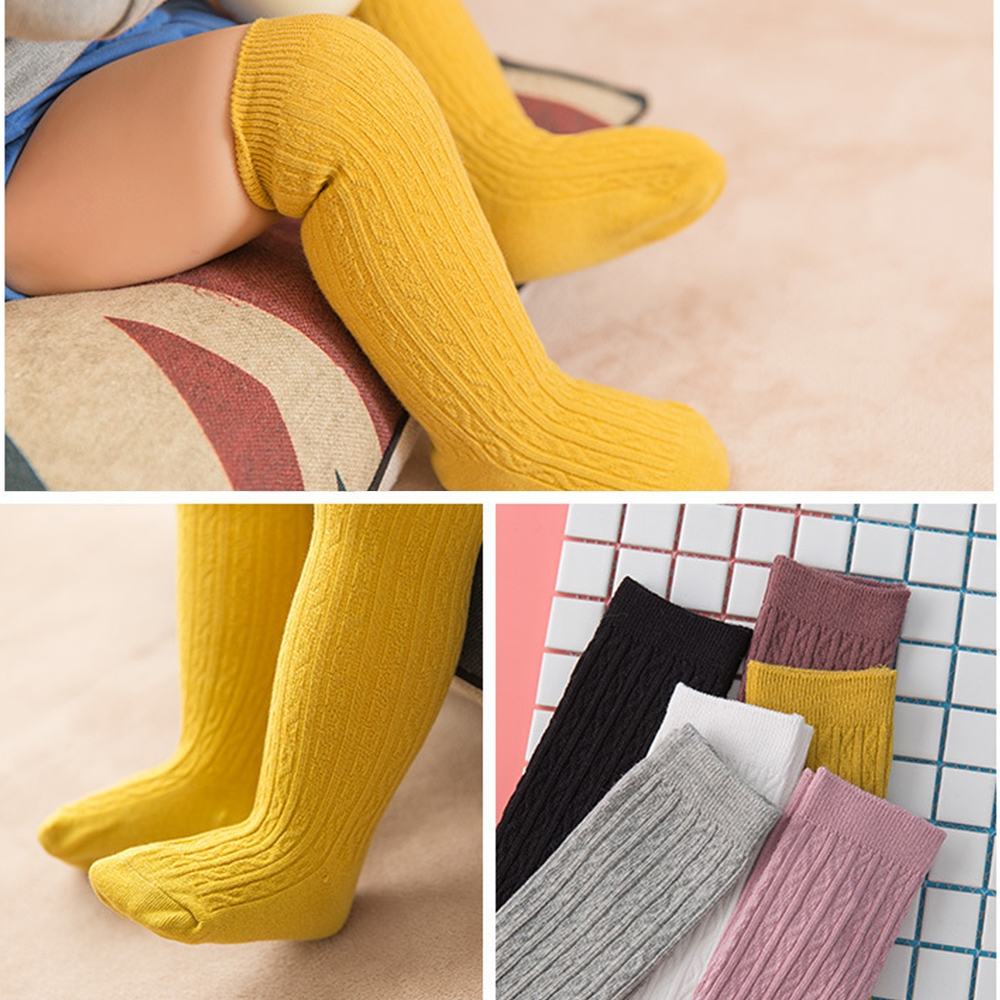 Fun Color Cute Baby Knee Socks Newborn Infant Baby Cotton Knee High Socks Children Baby Girls Boys Socks For Age 0-3 Years Носки