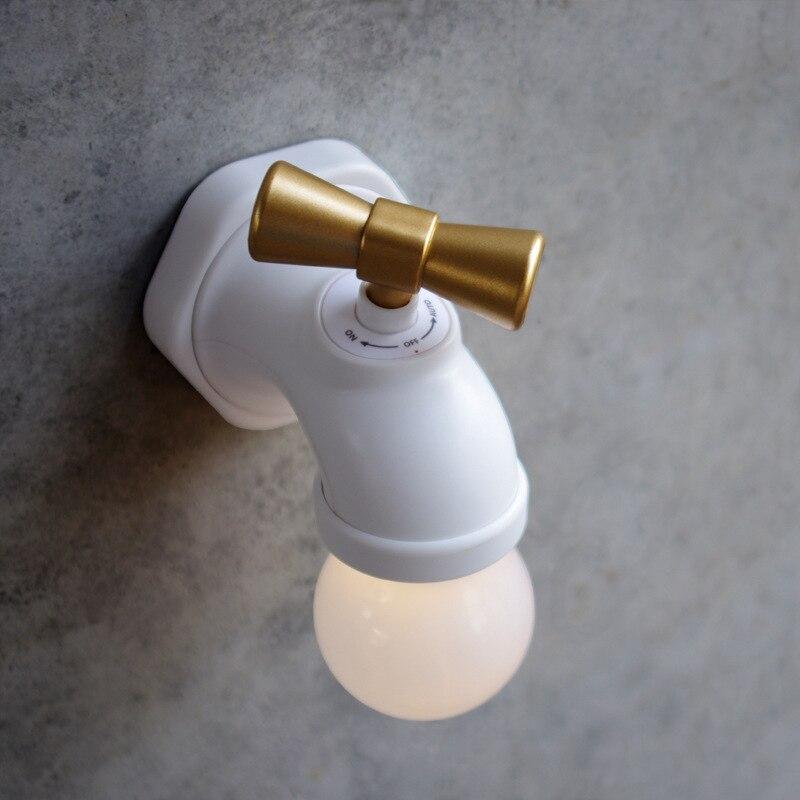 Original Neue Usb-lade Wasserhahn Typ Voice Control Mini-led Nacht Lampe Warmes Licht Für Baby Nacht Lampe Wiederaufladbare Tap Wand Lampe Belebende Durchblutung Und Schmerzen Stoppen