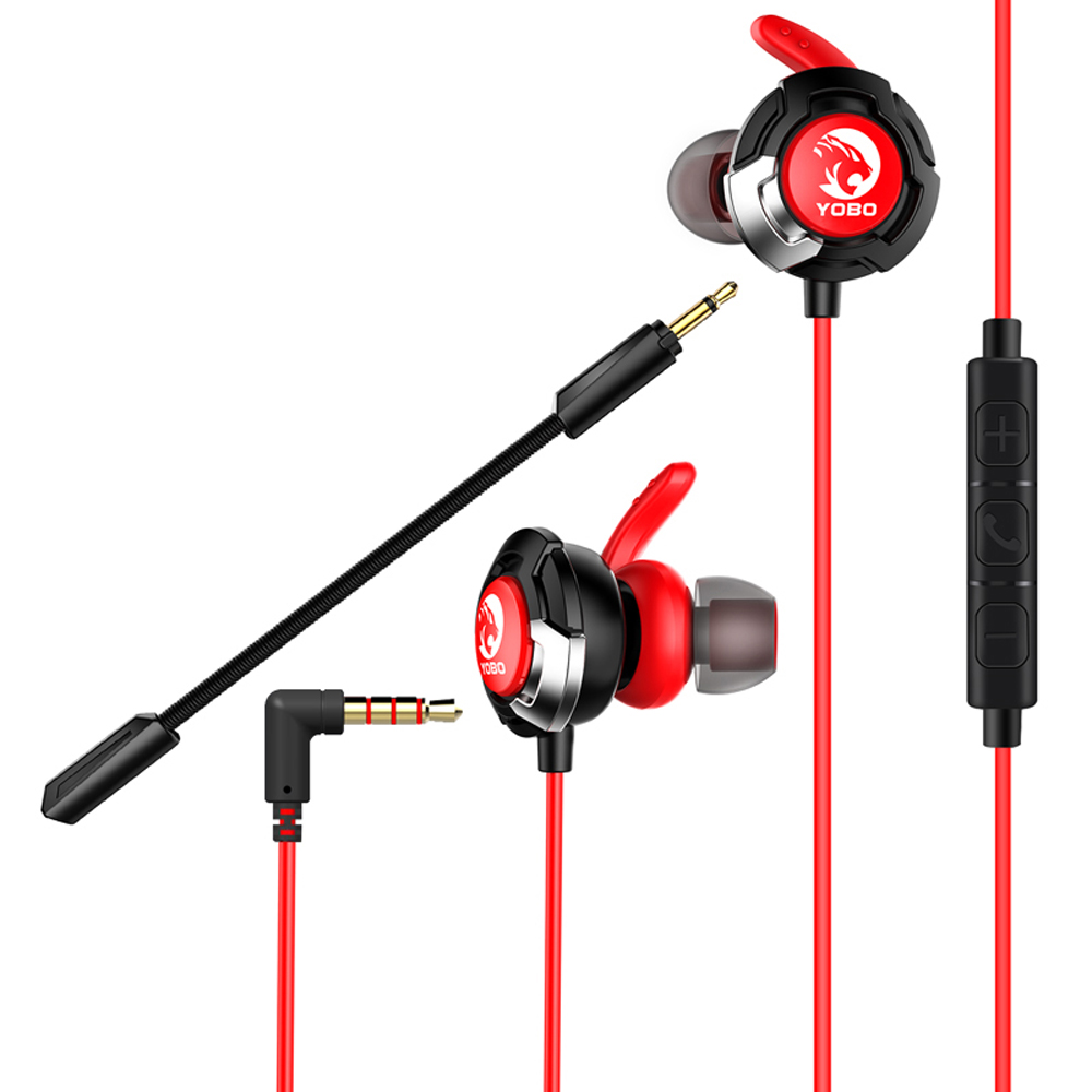 H1 Earphone Headset Gamer Dynamic Driver Unit In-Ear Bass Stereo Sports Earphones With Mic For Game