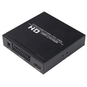 Image 5 - Najlepsze oferty PAL / NTSC SCART i HDMI na konwerter wideo HDMI Box 1080P Upscaler z wyjściem Audio 3.5mm i koncentrycznym dla konsoli do gier