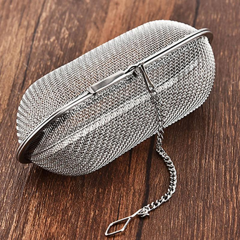 Pratical תה מסננת מסנן תליית בטוח לשימוש חוזר רשת תה מסננת נירוסטה תה Infuser מסננת פלדת מטבח כלי #705